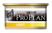 Pro Plan Light консервы для кошек, нуждающихся в контроле веса, с индейкой