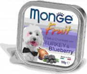 Monge Dog Fruit консервы для собак с индейкой и черникой